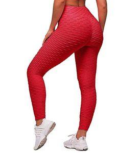 Tik Tok Leggings Push Up Yoga Leggings Yoga Hosen Scrunch Butt Damen Leggings mit Wabenstruktur, hoch taillierte Anti Cellulite Sporthose Peach Booty Butt Lifting Größe: XXXL