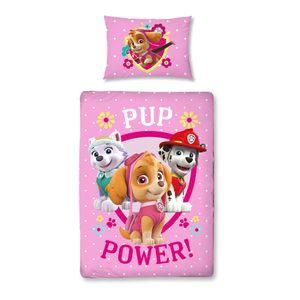 Paw Patrol Baby-Bettwäsche in Biber / Flanell 40x60 cm + 100x135 cm · Kinder-Bettwäsche in rosa, pink - 100% Baumwolle