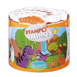 ALADINE Stampo Minos Dinosaurier Kinderstempel Stempel Kinder Stempelkissen