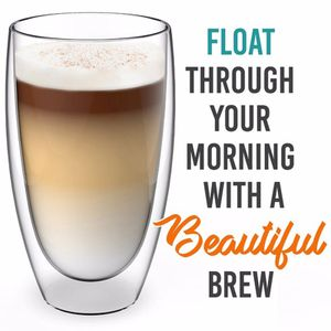 Doppelwandige Kaffeetassen Glasschale Teetasse Getr?nke Essen Glaswaren Bier klar