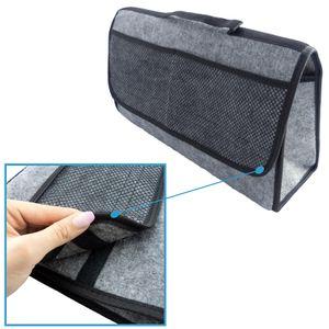 Kofferraumtasche Autotasche Tasche Kfz Zubehörtasche Auto Organizer in grau