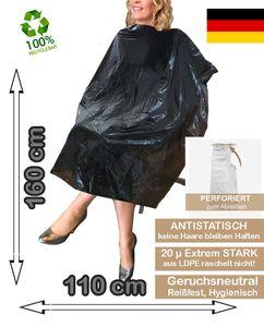 120 Stück Einweg-Friseur XXL 160 cm x 110 cm Recycelbar  Wasserdichter Einweg-Haarschneideumhang-Umhang zum Färben und Schneiden Extra Stark 20µ