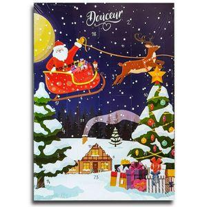 Weihnachtsmann Schlitten Adventskalender m Schokolade Schoko Weihnachts Kalender