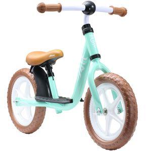 LÖWENRAD Kinder Laufrad ab 3 - 4 Jahre   12 Zoll Lauflernrad mit Trittbrett   Mint