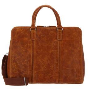 bugatti Work Bag L Cognac