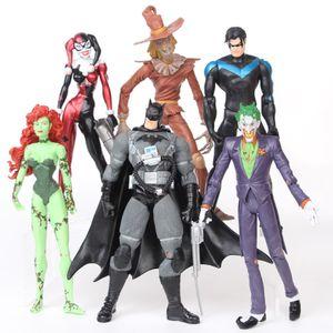 6 Stück Batman Joker-Harley Quinn Figur Spielzeug Modell