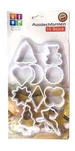 10er Set Ausstechformen Weihnachtskekse Plätzchen Kekse Ausstecher Kunststoff