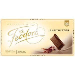 Feodora Tradition Tafel aus feinster Zartbitterschokolade 100g