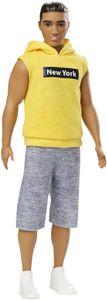 Barbie Ken Fashionistas Puppe im ärmellosen gelben Hoodie