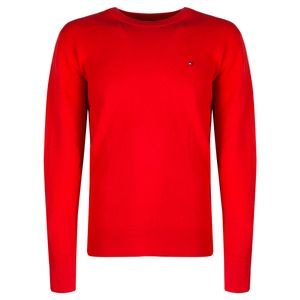 """Tommy Hilfiger Pullover """"Slim"""" -  MW0MW08782 - Rot-  Größe: L(EU)"""