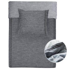 Walra Jersey Bettwäsche 2 teilig Bettbezug 135 x 200 cm Kopfkissenbezug 80 x 80 cm Casual Beauty Grau 1207874