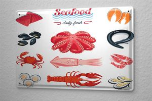 Blechschild Nostalgie Fun Meeresfrüchte