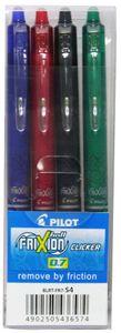 PILOT Tintenroller FRIXION BALL CLICKER 07 BASIC 4er Etui