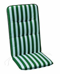 Best D.0269 Sesselauflage hoch 120 x 50 x 6 cm , Farbe Grün/Weiß gestreift