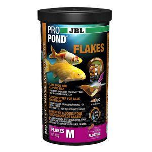 JBL ProPond Flakes, Flockenfutter für alle Teichfische 0,13 kg