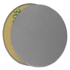 cofi1453 2x Magnet Ersatz Metallplättchen für Auto Magnet Handyhalter KFZ Universal Magnethalterung grau