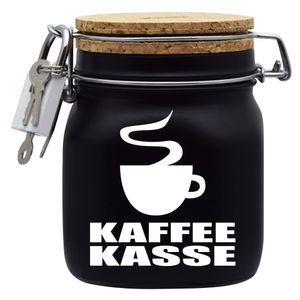 Spardose Geld Geschenk Ideen Kaffee Kasse Schwarz Größe M 0.75 Liter