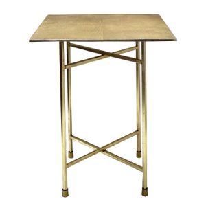 Soma Beistelltisch Metall Dekotisch Babylon 35x46x35 cm quadratisch klass. Design Aluminium silber- o. go (BxHxL) 35 x 46 x 35 cm gold