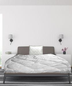 Mikrofaser Bettdeckenset 2-teilig Bettdecke 135 x 200cm Füllung 1200 Gr. + Kopfkissen 80 x 80cm Füllung 900Gr Bettdecke und Kissen Set Steppdecke Ganzjahresdecke mit Kissen