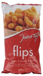 Jeden Tag Flips Mais-Erdnuss Snack (200 g)