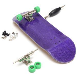 Holz Fingerboard Set Fingerskateboard Skateboard Montage Zubehör Spielzeug Junge Kinder Spielzeug, Lila