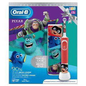 Oral-B Vitality 100 Kids Best of Pixar rot, Kinderzahnbürste, elektrische Bürste