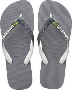 havaianas Brasil Mix Flips steel grey/white/white Schuhgröße EU 45-46 | Brazilian 43-44