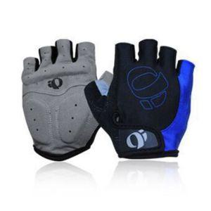 Halbfinger Handschuhe Fahrrad-Halbfinger Radfahren Kieselgel Microfaser Atmungsaktiv Stoßdämpfende kurze Fingerhandschuhe Blau
