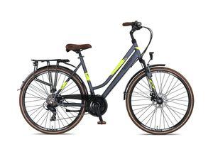 28 Zoll Trekkingrad Damen Umit Ventura Scheibenbremsen Grau-Gelb 53 cm Rahmengröße