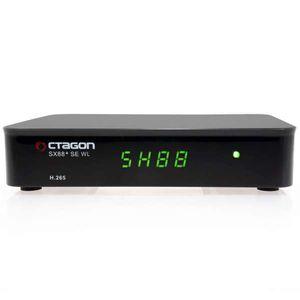 Octagon SX88+ Sat Receiver mit Wifi Wlan Antenne IP SE WL H.265 HD IPTV Set-Top Box Mini Box Stalker