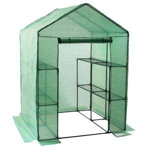 Zelsius Folien Gewächshaus mit 8 Ablagen, 195x143x143 cm, Tomatenhaus