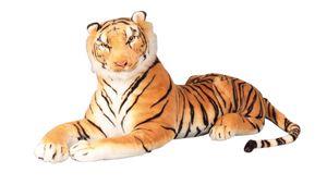 Tiger XL Plüschtier 90 cm Braun Plüschtier Kuscheltier