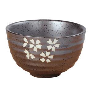 1 x Keramik Teeschalen Matchaschale japanische Matcha Schale Sakura wie beschrieben Naturholz Teelöffel