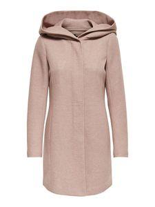 Only Damen-Woll-Mantel onlSedona Light Coat Otw 15142911, Größe:L, Farbe:Rosa