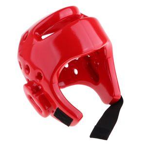 Kinder Boxen Kopfbedeckung Kunstleder Kopfschutz  Fighting Sparring Helm S rot