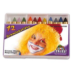 Fri -12 Schminkstifte Schminke Karneval Fasching Halloween