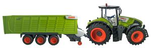 Siva RC Traktor CLAAS Axion 870 + Anhänger Cargos Trailer 1:16 2.4 GHz RTR