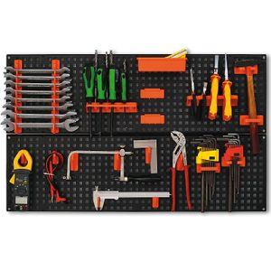 Loch-Werkzeugwand mit Hakenset 80x48cm