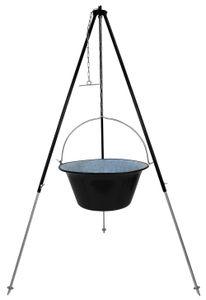 Gulaschkessel Partykessel 30 Liter und 180 cm Dreibein