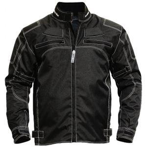 Motorradjacke textilien Kombi Jacke schwarz, Größe:54/XL