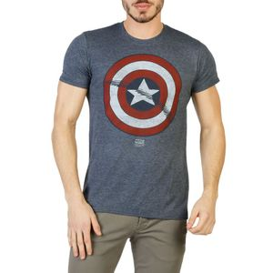 Marvel Herren Marken T-Shirt, Freizeitshirt, RFMTS161, Größe:S, Farbe:Grau, Herstellerfarbe:gray.red