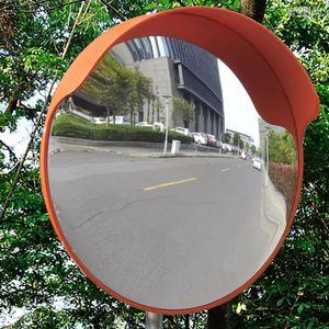 anlund Verkehrsspiegel Konvex PC-Kunststoff Orange 45 cm Outdoor