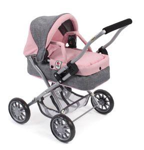 "Mini-Kuschelwagen ""Smarty"" Melange grau-rosa"