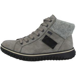 rieker Damen Schnürstiefel Stiefel Grau Schuhe, Größe:37