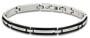 Lotus Style Armband 21 cm Edelstahl Men in Black LS1803-2/1