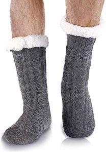 Kuschelsocken Wintersocken Herren Warme Flauschige Dicke Hüttensocken Haussocken mit Noppen Geschenk für Männer Weihnachten