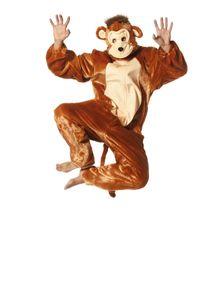 Unisex Kostüm Affe Schimpanse Affenkostüm Karneval Gr.40