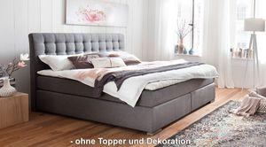 Meise Boxspringbett Lenno - grau (HUGO anthracite 11) - 180x200 cm - TTFK350 - H3