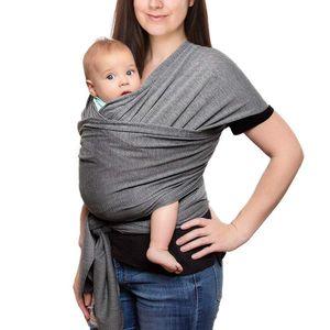 Babytragetuch, Elastisches Tragetuch Baby Baumwolle Sling Tragetuch für Neugeborene Kleinkinder Kinder Baby Wrap Carrier Anleitung, Dunkelgrau