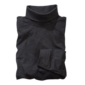 Rollkragen-Langarmshirt anthrazit melange Redfield XXL, Größe:2XL